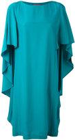 Alberta Ferretti waterfall sleeve dress - women - Silk - 42