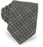 Forzieri Geometric Pattern Woven Silk Men's Tie