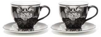 Gucci X Richard Ginori Set Of Two Cups And Saucers - Black Multi