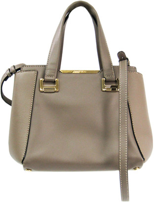 Jimmy Choo Gray Leather Satchel
