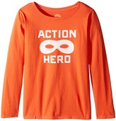 Life is Good Action Hero Mask Long Sleeve Tee Girl's Long Sleeve Pullover