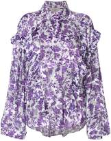 Preen by Thornton Bregazzi Miranda flocked blouse