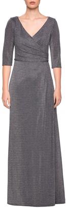 La Femme Sparkle Column Gown