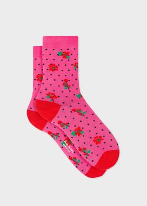Paul Smith Women's Fuchsia 'Wild Rose' Socks