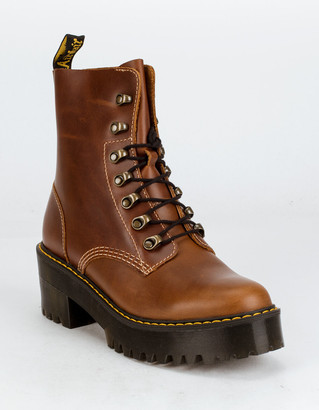 Dr. Martens Leona Orleans Womens Leather Heeled Boots