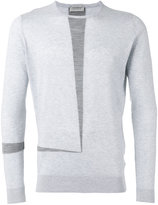 John Smedley contrast stripe sweater