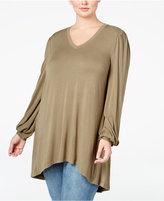 Melissa McCarthy Plus Size V-Neck Jersey Top