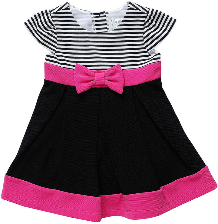 Sweet Heart Rose Baby Dress, Baby Girls Empire Ponte Dress