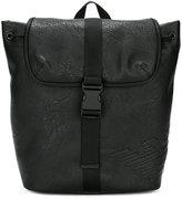 Armani Junior logo embossed backpack