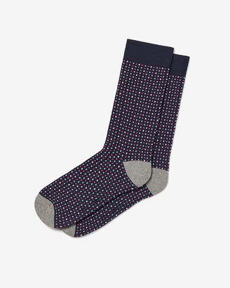 Express Multicolor Polka Dot Dress Socks