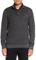 Ted Baker Funnel Neck Quarter Zip Pullover (Tall)