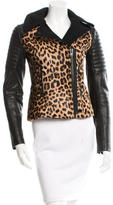 A.L.C. Leather Leopard Patterned Jacket