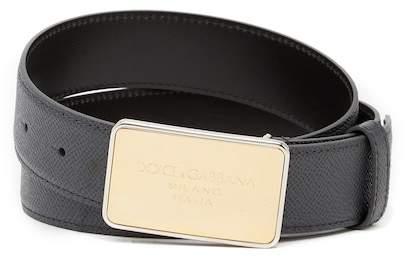 Dolce & Gabbana Textured Leather Belt