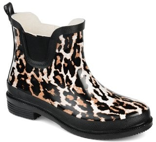 Brinley Co. Womens Rubber Ankle Rain Boot