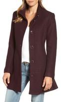 Kensie Women's Single Breasted Ruffle Hem Coat