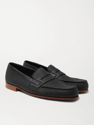 J.M. Weston 281 Le Moc Pebble-Grain Leather Loafers