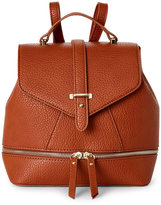 Imoshion Cognac Pebbled Faux Leather Mini Backpack