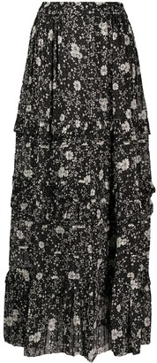 Etoile Isabel Marant Tiered Floral-Print Skirt