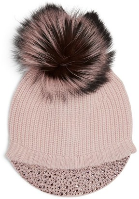 William Sharp Cashmere Pom-Pom Beanie