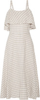 Kain Label Ariel layered gingham gauze dress