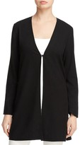 Eileen Fisher Silk Noil Long V-Neck Cardigan