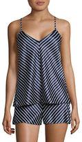 Lauren Ralph Lauren Striped Satin Cami Pyjama Set