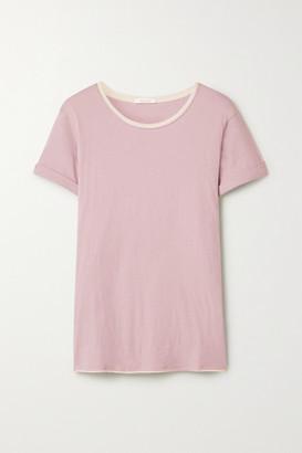 Skin Georgie Organic Pima Cotton-jersey T-shirt - Pink