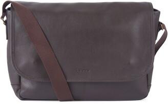 Barbour Leather Messenger Bag