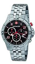 Wenger Squadron Men's Chronograph Watch 77056 With Sapphire Crystal And Steel Bracelet