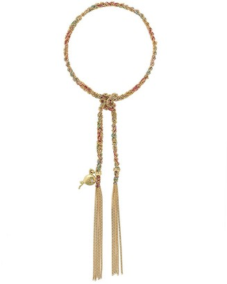 Carolina Bucci 18kt yellow gold Lucky Celebration charm bracelet