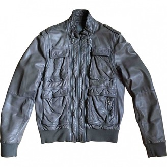 Neil Barrett Grey Leather Jackets