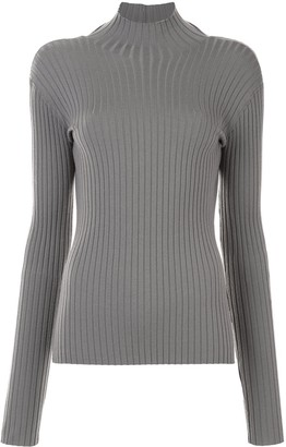 Dion Lee Ribbed-Knit Open Back Top