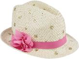 Accessorize Malika Gold Spotty Hat