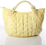 Miu Miu Yellow Patent Leather Cushioned Tote Handbag RHB11