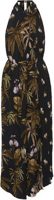 Vince Mixed Tropical Garden Printed Crepe Dress Size: S