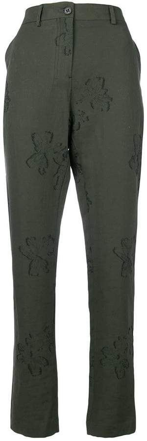 Damir Doma embroidered slim-fit trousers
