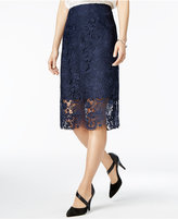 Bar III Crochet-Lace Pencil Skirt, Only at Macy's