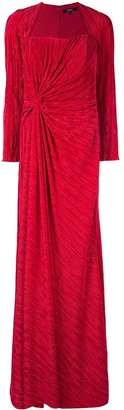 Badgley Mischka Pleated Drape Gown
