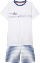 The Little White Company Appliquéd submarine cotton pyjamas 6-12 years