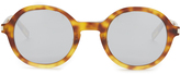 Saint Laurent Round-frame mirrored acetate sunglasses