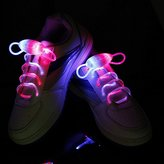 KingYuan LED Shoelaces Light Up Shoe Laces with 3 Modes Flash Lighting the Night for Party Hip-hop Dancing Cycling Hiking(Pink & Blue)