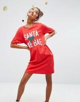 Asos Holidays 'Santa Bae Bae' T-Shirt Dress