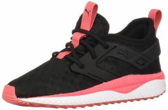 Puma Men's Pacer Next EXCEL Slip ON Sneaker Black-Calypso Coral White 12 M US Little Kid