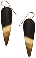 Heather Hawkins Water Buffalo Horn Earrings - Natural / White