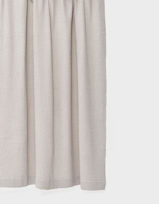 Hawkins New York Simple Waffle Shower Curtain in Light Grey