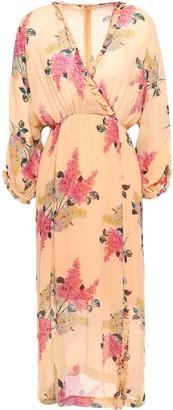By Ti Mo Wrap-effect Floral-print Crepe Midi Dress