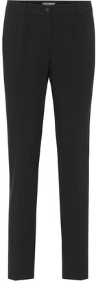 Dolce & Gabbana Mid-rise wool-crepe pants