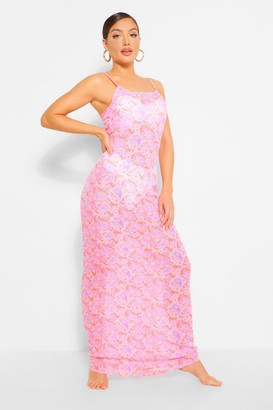 boohoo Neon Paisley Strappy Maxi Beach Dress