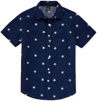 City Streets Boys Short Sleeve Button-Front Shirt Preschool / Big Kid Husky