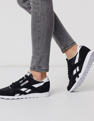 Reebok Classic Nylon sneakers in white and black